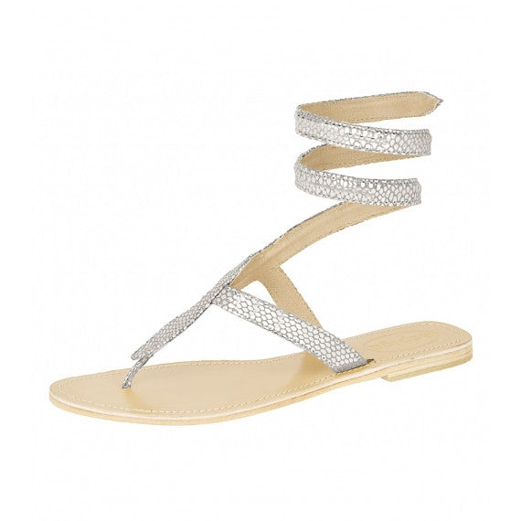 Silver Cobra Natural Leather Sandals