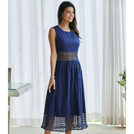 Blue Navy Cheltenham Dress