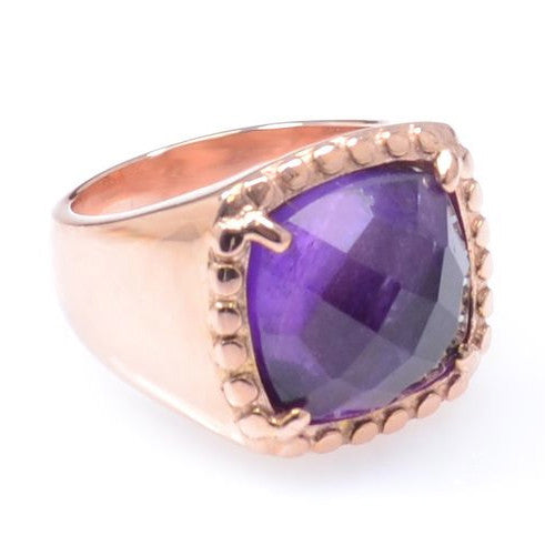 Amethyst Gold Plated Ring