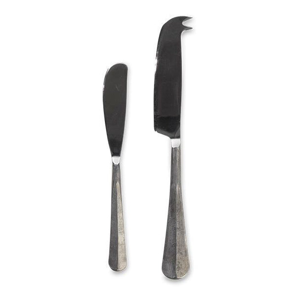 Osko Cheese & Butter Knife Set Silver