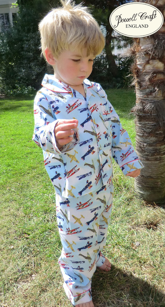 Vintage Aeroplane Cotton Pyjamas