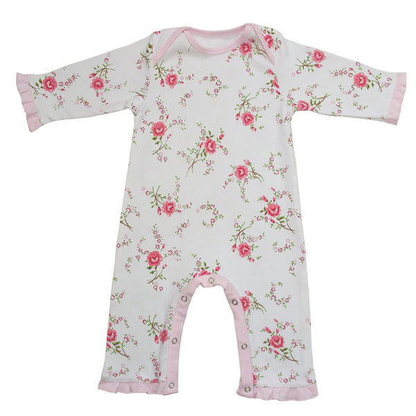 Rose Floral Cotton Jumpsuit
