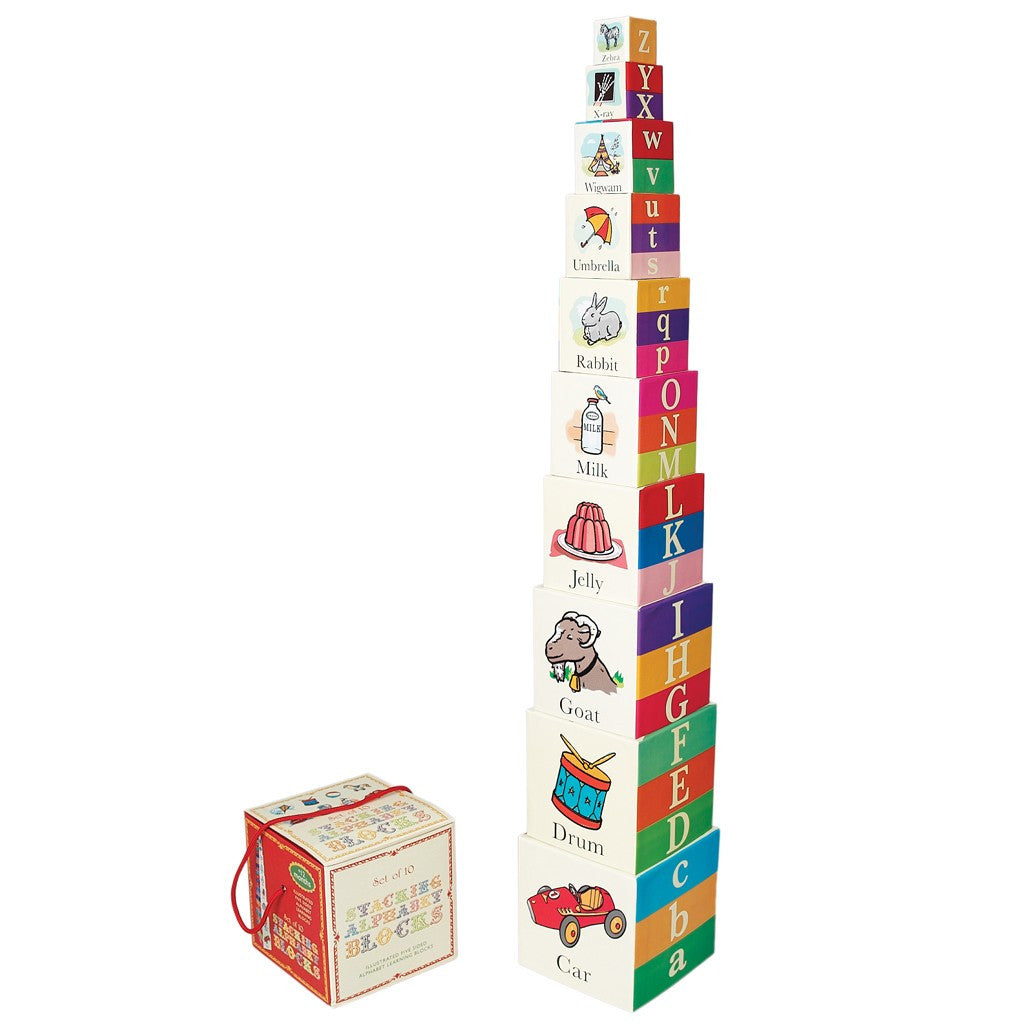 Set of 10 Alphabet Stacking Blocks