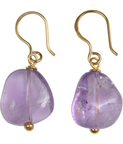 Sterling Silver or Gold Plated Amethyst Earrings