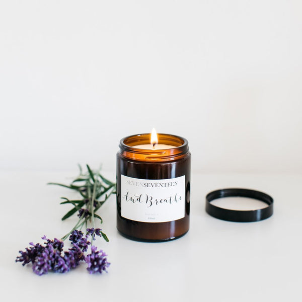 Lavender Scented Candle And Breathe