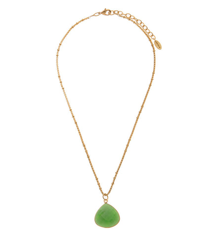 Apple Green Chalcedony Stone Necklace