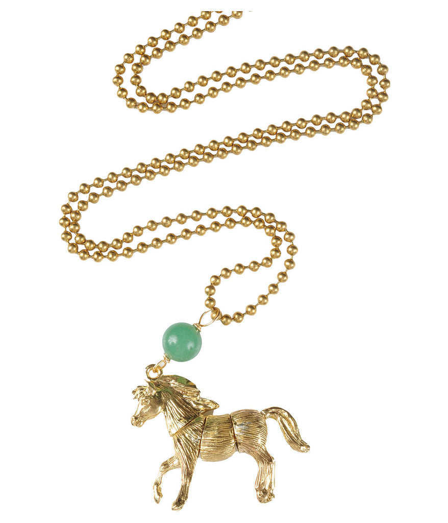 Articulated Majestic Horse Necklace