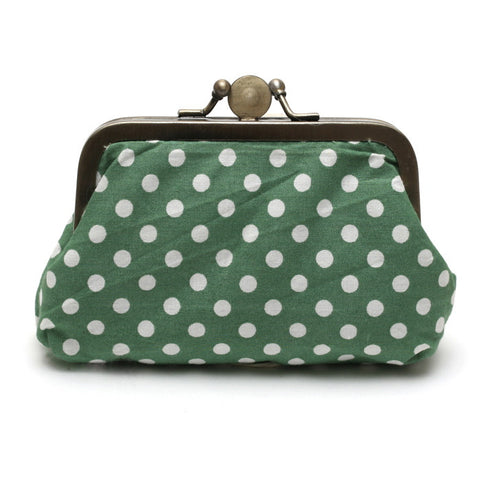 Fresh Green Polka Dot Purse