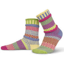 Aster Mismatched Knitted Socks
