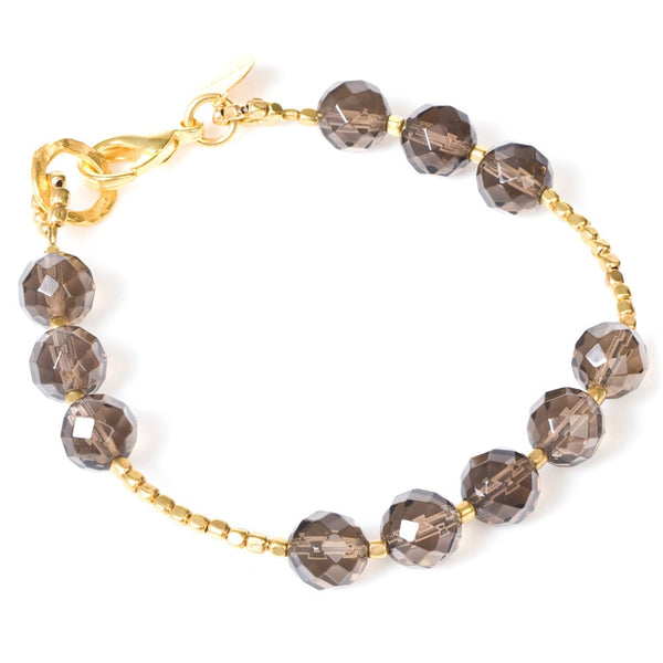 Smoky Quartz Gold Plated Bracelet