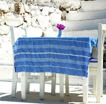 Azure Hammamas Cotton Towel/Wrap