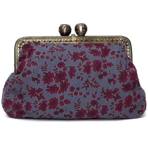 Indigo Woodland Flower Molly Purse