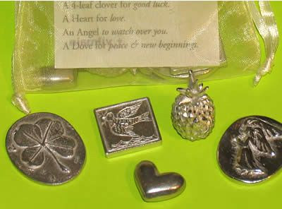 Bag Of Cheer Pewter Pocket Charms