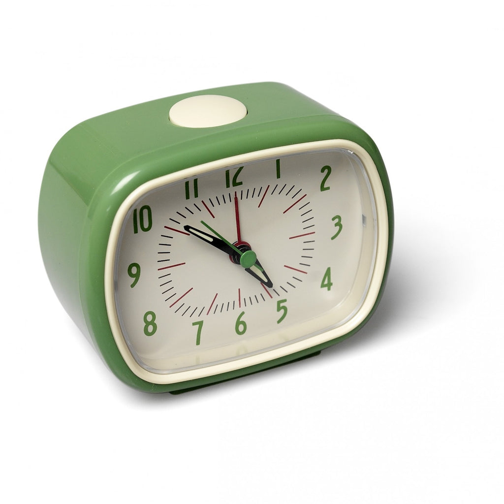 Green Retro Alarm Clock
