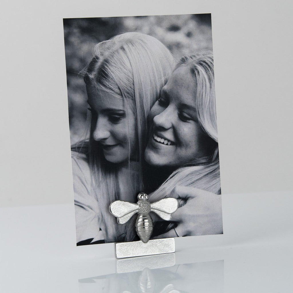 Bee Pewter Photo Holder