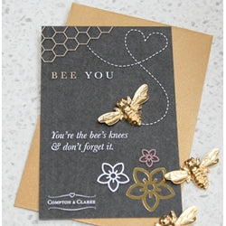 Bee You Gold Pocket Charm