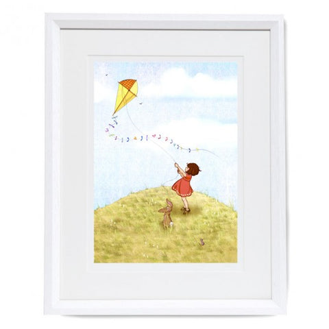 Belle & Boo Fly A Kite Framed Print