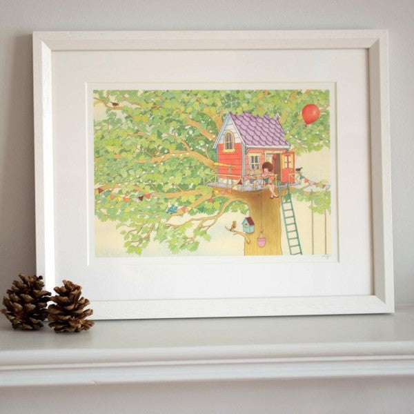 Belle & Boo Treehouse Framed Print