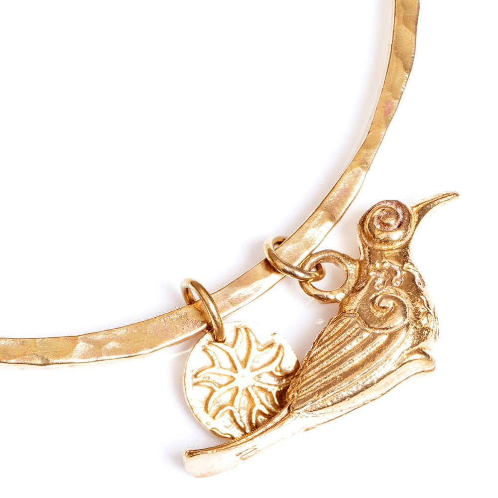 Bird of Paradise Brass Bangle