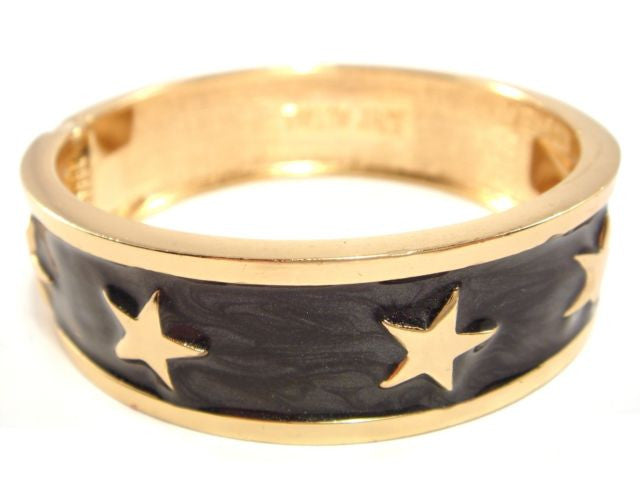 Enamel Stars Bangles Gold or Silver Plated