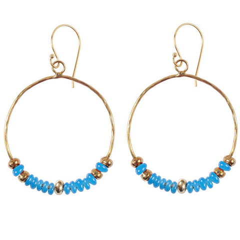 Blue Hippy Chic Earrings