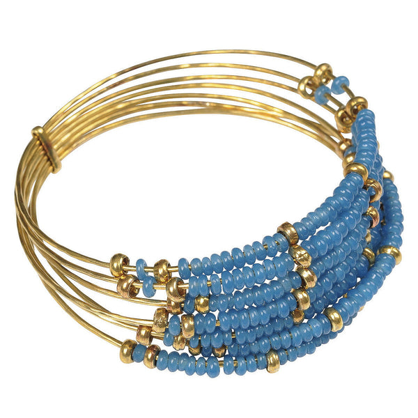 Blue Semainier Bangle