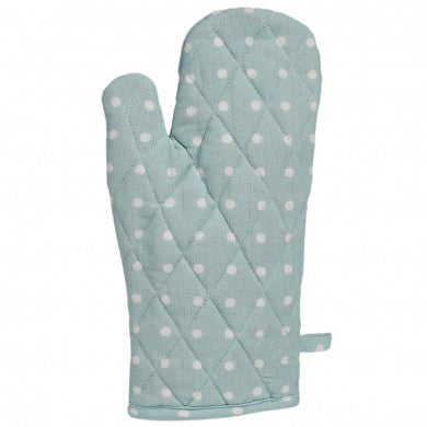 Blue Spotted Cotton Oven Glove