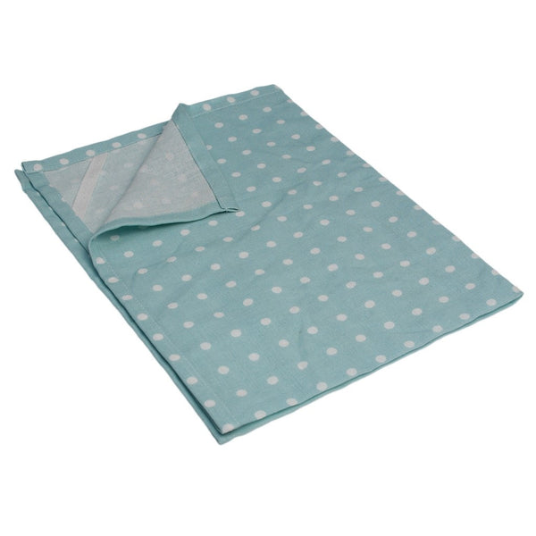 Blue Spotted Cotton Tea Towel