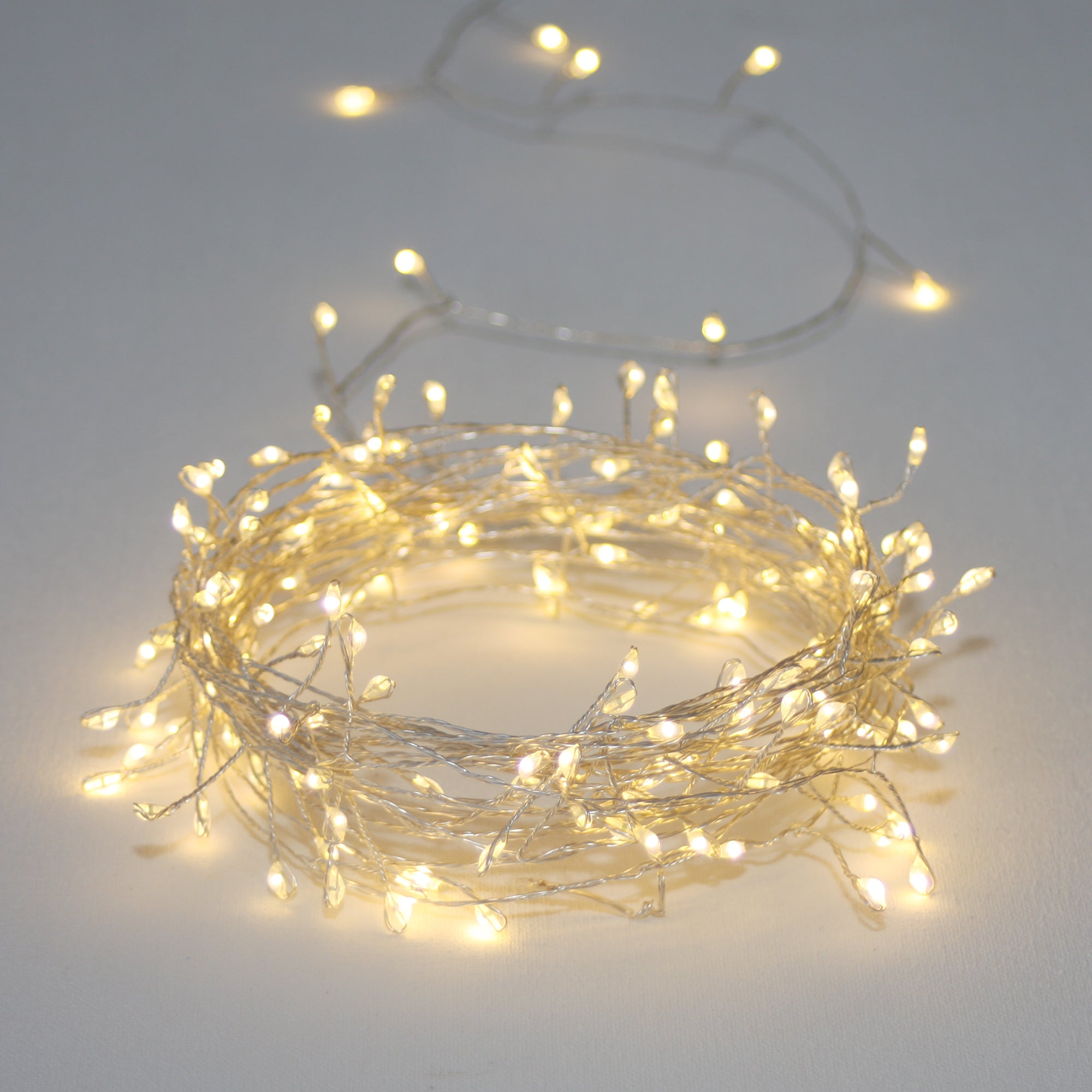quite nice 159ef 8840a Silver Cluster Light String 3M Battery