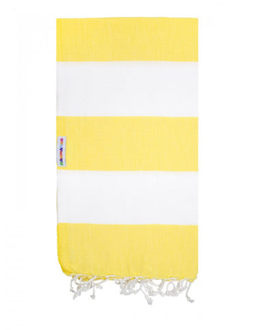 Daisy/White Hammamas Cotton Towel/Wrap