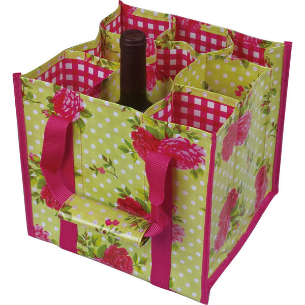 English Rose Wipe Clean Bottle Bag