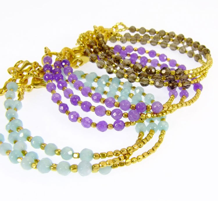 Amazonite Gold Plated Bracelet