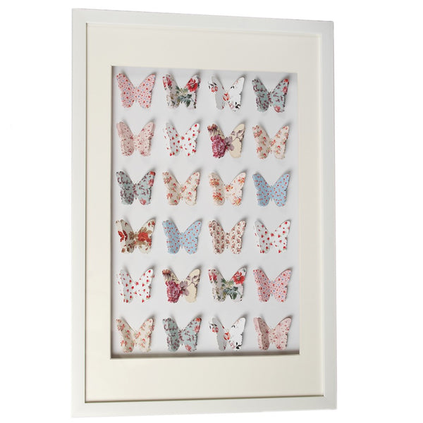 Vintage Paper Butterfly Box Frame