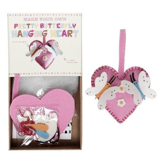 Make Your Own Feltcraft Butterfly Hearts Craft Kit