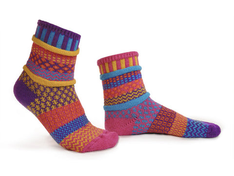 Carnation Mismatched Knitted Socks