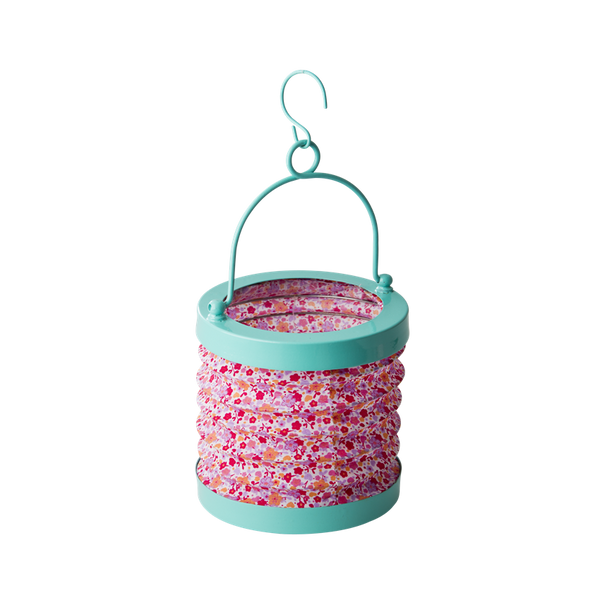 Pink Fabric Accordion Tea-Light Lantern
