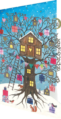 Christmas Tree House Lasercut Christmas Cards