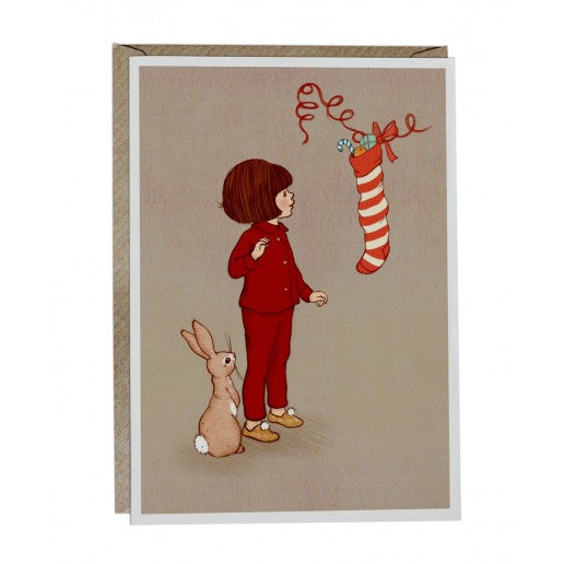 Belle & Boo Christmas Stocking Card