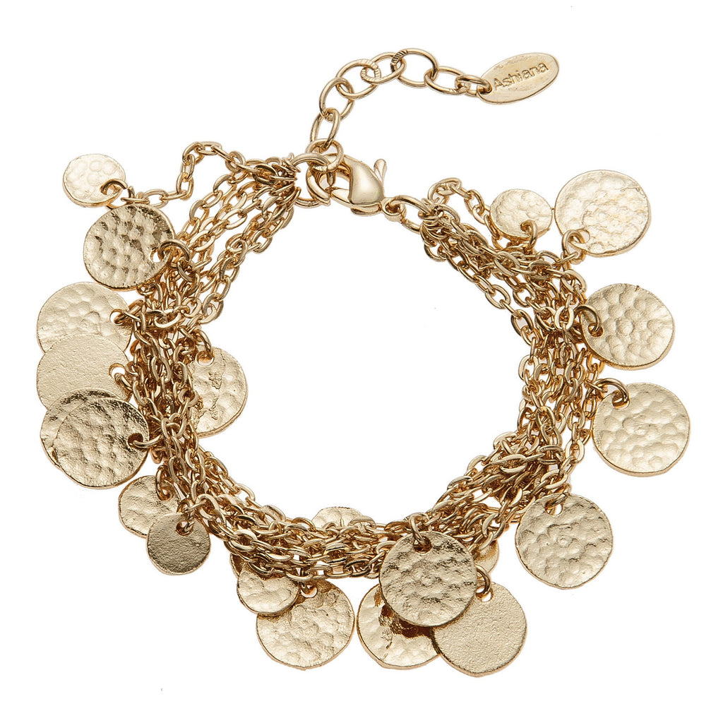 Classic Gold Mini Disc Charm Bracelet