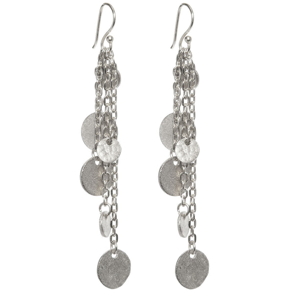 Classic Silver Plated Mini Disc Earrings