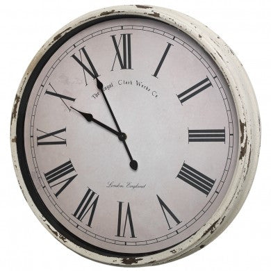 Large Classic Cream Station Clock