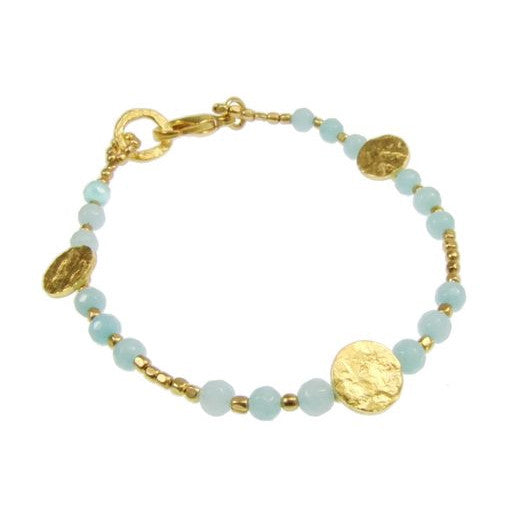 Gold Plated Amazonite Bracelet