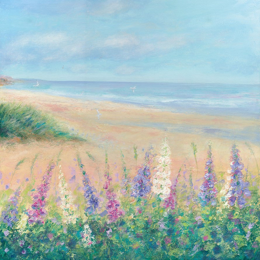 Coastal Foxgloves Card