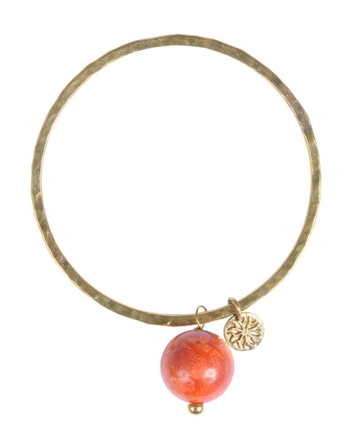 Orange Coralla Bangle
