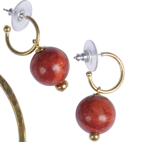 Coralla Creole Earrings