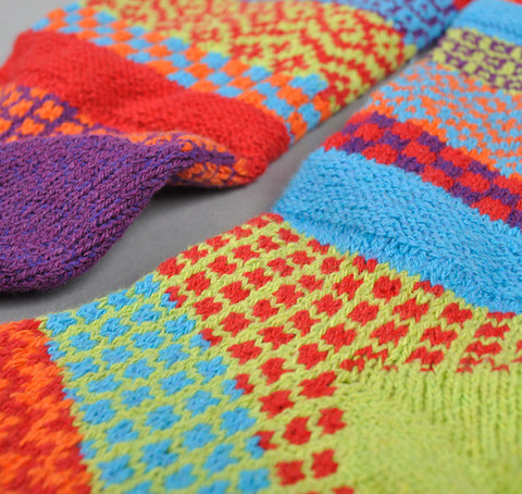 Cosmos Mismatched Knitted Socks