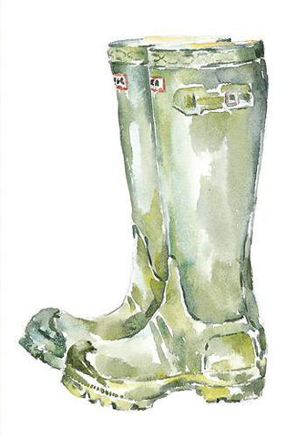 Green Wellies - no caption