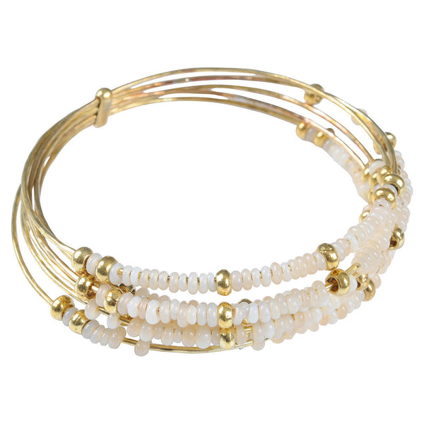 Cream Semainier Bangle