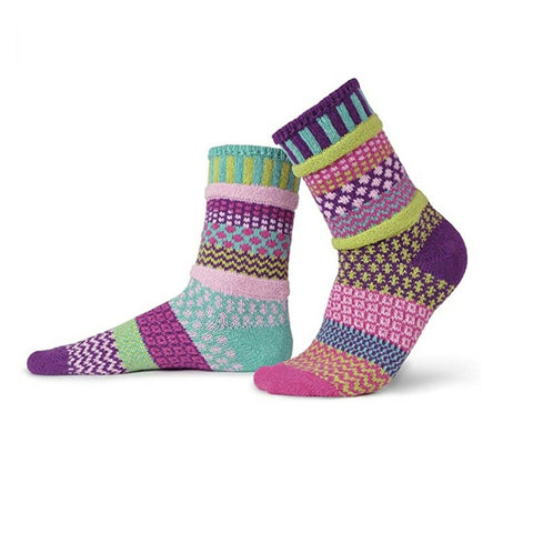 Mismatched Knitted Socks (Dahlia)