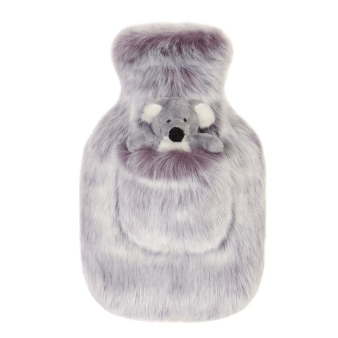 Damson Faux Fur Children's Hot Water Bottle